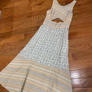 Free People peek-a-boo linen dress